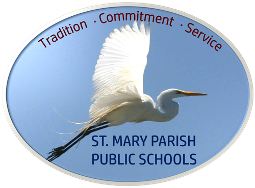 District Logo:  Egret with Tradition, Commitment, Service